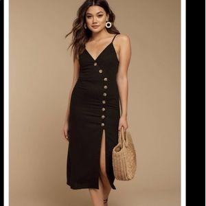 Claire Black Midi Dress